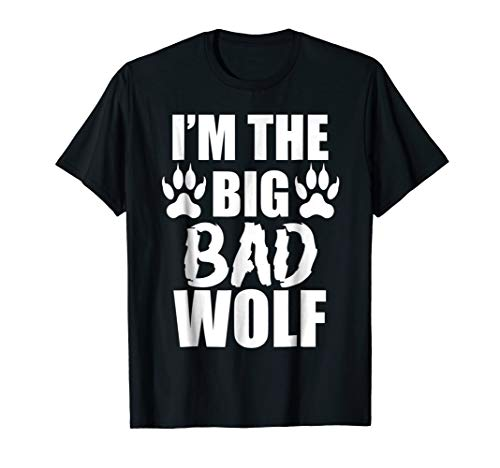 I'm The Big Bad Wolf Paw Prints Shirt Easy Halloween Costume -