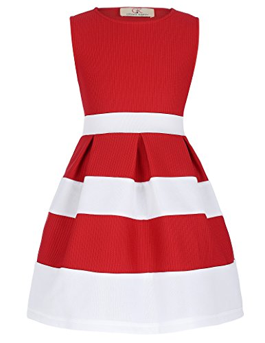 GRACE KARIN Girls Striped Casual Daily Sundresses 8yrs ()