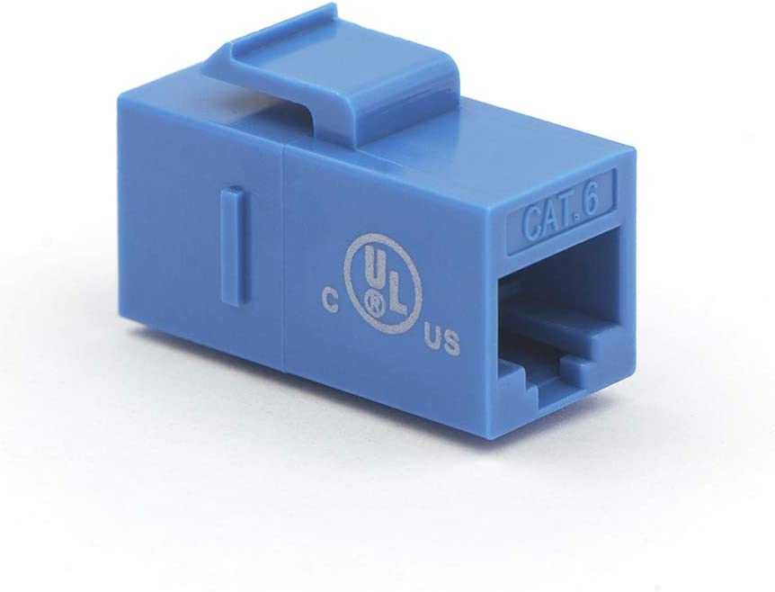 UTP Keystone Inline Coupler-Blue UL Listed VCE 25-Pack RJ45 CAT6 Keystone Coupler Female to Female Insert Coupler