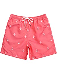 Mens Short Swim Trunks Mens Bathing Suits with Mesh Lining, Quick Dry Swim Shorts Swimsuits for Men,