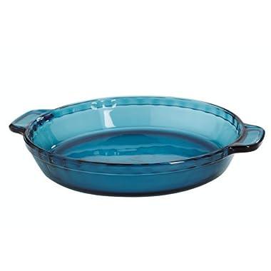 Anchor Hocking Coastal Blue Glass Pie Dish, 9.5 Inch, Set of 2