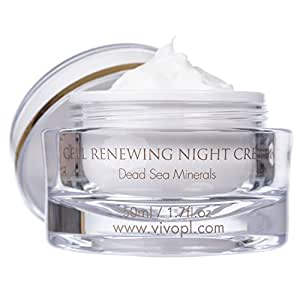 Vivo Per Lei Cell Renewal Anti Aging Night Cream, Look Younger, Not Oily or Sticky, 1.7 Fl. Oz.