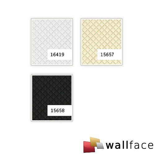 WallFace 15658 ROMBO Wall panel self-adhesive Leather design plaid Luxury wallcovering wallplate black | 2,6 sqm by Wallface (Image #2)
