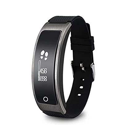 YSCYLY Fitness Tracker Smart Wristband Bracelet Bluetooth IP65 Swimming Sports Waterproof Heart Rate Monitor Pedometer Sleep Monitor for Couple Estimated Price £60.30 -