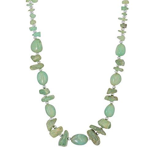 Cadeau de Noël pour les femmes, 53,34 cm de Bijoux Pierre Collier Green Fashion naturel