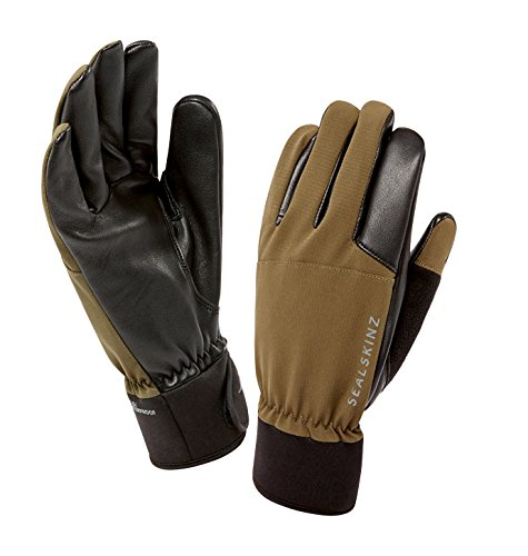 SEALSKINZ 100% Waterproof Glove - Windproof & Breathable, leather trigger finger, suitable for photography, fishing, shooting, hunting and activities in all weather conditions