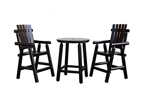[해외]송 센 로그 나무 막대 테이블 & amp; /Songsen Log Wood Bar Table ...
