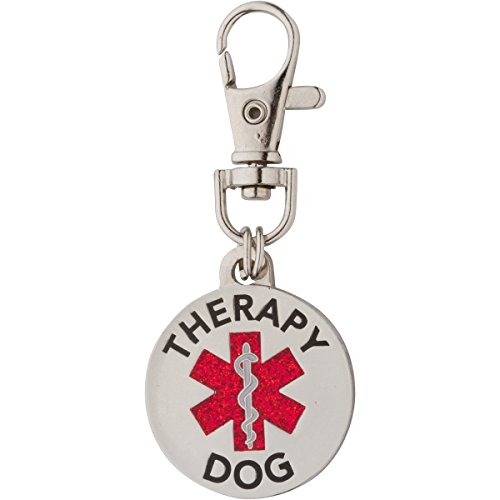 K9King Therapy Dog Double Sided With Glitter Filled Red Medical Symbol. Easily switch between collar harness and vest (Switch Symbol)