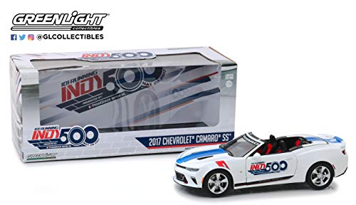 Greenlight 18247 1: 24 2017 Chevrolet Camaro Convertible - 101 Running Indy 500 Presented by PennGrade Motor Oil 500 Festival Event Car