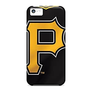 Anti-Scratch Cell-phone Hard Covers For Iphone 5c With Customized High Resolution Pittsburgh Pirates Pattern RitaSokul