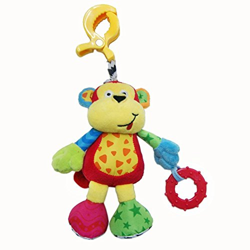 BabyfansTM Baby Cute Monkey Shaped Plush Music Voice Flexible Puppet Educational Hanging Toys