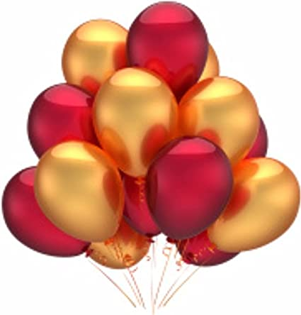 hk balloons hk0216 metallic birthday balloons for decoration red
