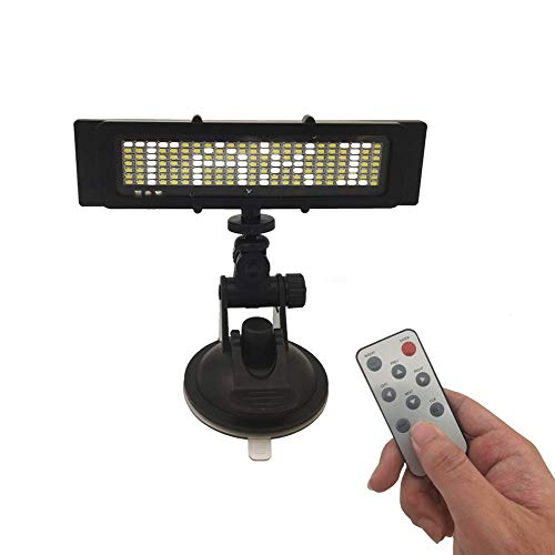 Removable Custom Words Led Display,Suction with Suction Cups with DC 12V Charger Inverter,Compatible with U/L/Taxi/Car/Boat/Shop,Easy Program(White)