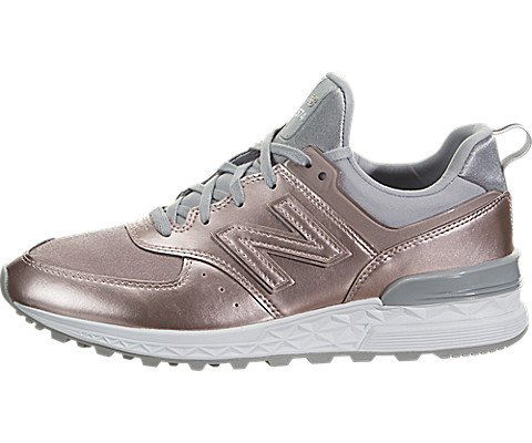 New Balance Women's WS574SFF, Rose Gold, 6 B US