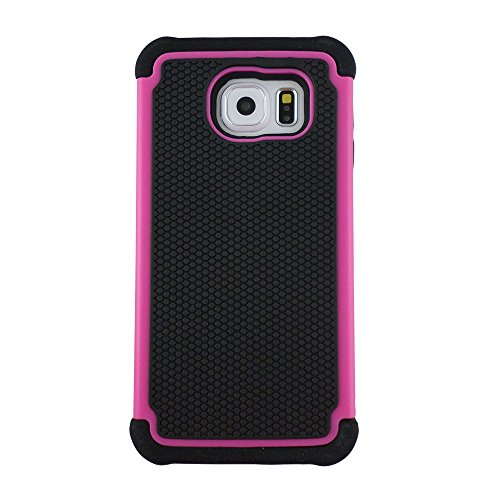 TCD for Samsung Galaxy Note 5 [H Pink] Executive Armor Defender Series [HIGH Impact] Multi Layer [Hard/Soft Combo] TPU and Hard Plastic Shock Absorbent Case [Screen Protector Stylus]