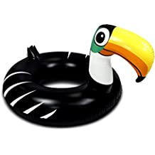 Inflatable Pool Float Large Toucan Shape Party Tube Ring Accessory 49 Inches, Premium Elegant Heavy Duty Vinyl Flotation Pool Toy, For the Beach, Party, Vacation, UV Resistant – Pool Party #201015