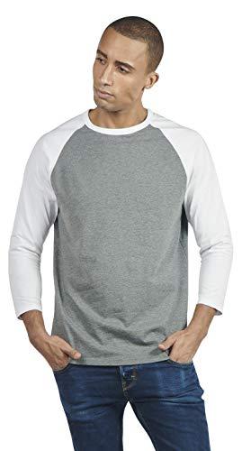 SOIZZI Fashion Men 100% Organic Cotton T Shirt, 3/4 Sleeves Baseball Tee, Slim Fit Classic and Casual Design, ()