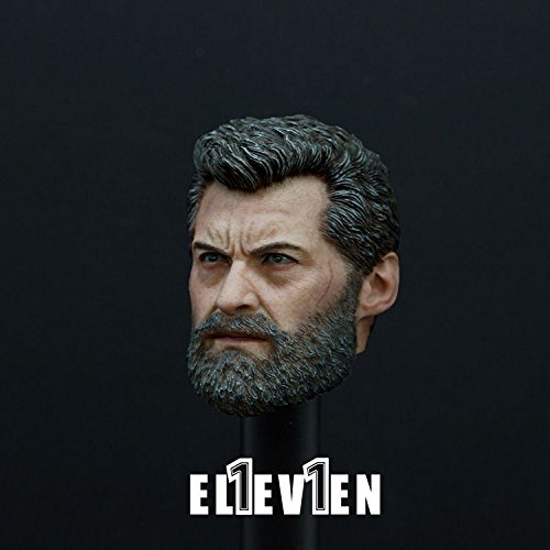 1/6 Scale Logan Head Sculpt Carving Wolf Uncle Action Figure