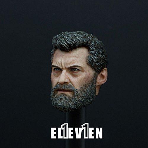 1/6 Scale Logan Head Sculpt Carving Wolf Uncle Action Figure
