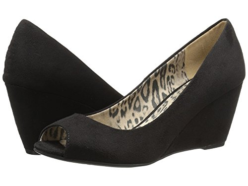 CL by Chinese Laundry Women's Nolita Wedge Pump, Black Super Suede, 10 M (Laundry Open Toe Heels)