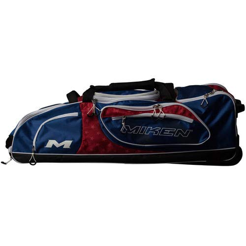 Miken Championship Wheeled Equipment Bag (With 4 Bat Slots and Fence Hooks), -
