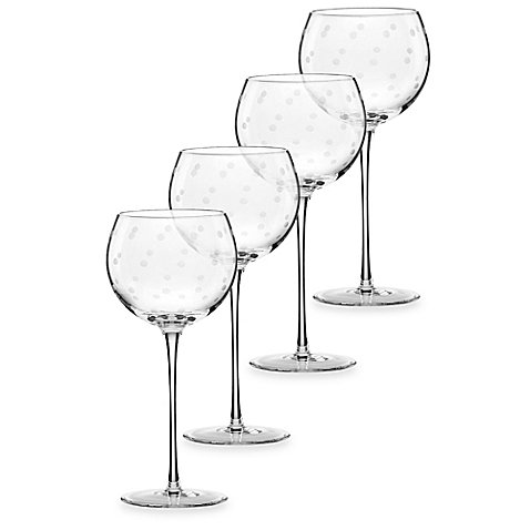 kate spade new york Larabee Dot Balloons Wine Glasses (Set of - Dot Glasses Kate Spade Polka