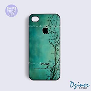 iPhone 5c Tough Case - Green Tree Pattern iPhone Cover