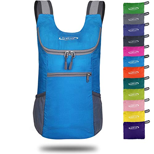 G4Free Lightweight Packable Shoulder Backpack Hiking Daypacks Small Casual Foldable Camping Outdoor Bag 11L(Blue)]()