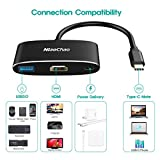 USB C to 4K HDMI Multiport Adapter ,NiaoChao 3-in-1 Type C Hub with USB 3.0 Charging Power PD Port Compatible for Nintendo Switch/MacBook Pro/iPad Pro/ Samsung Galaxy/Dell XPS