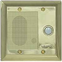 On-Q F7596SB Intercom Door Unit, Weather Resistant, Shiny Brass