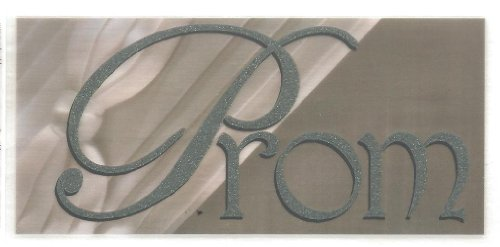 Prom Too Silver Glitter Rub-Ons for Scrapbooking (967)