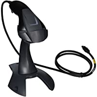 Honeywell 1400G Voyager Linear/Area-Imaging Scanner with USB Host Interface, 1D Rigid Present Stand, 4.0/5.5 VDC, 400 mA, Black