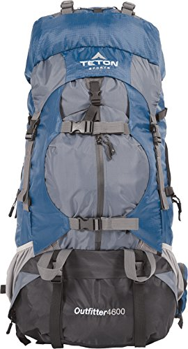 Teton Sports Outfitter 4600 Ultralight Internal Frame Backpack – Not Your Basic Backpack; High-Performance Backpack for Hiking, Camping, Travel, and Outdoor Activities; Sewn-In Rain Cover by Teton Sports