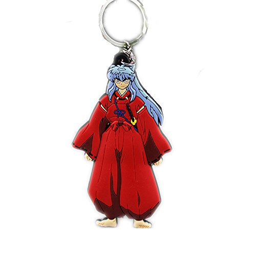 Anime Cartoon Inuyasha Figure PVC Pendant Keychain Accessory