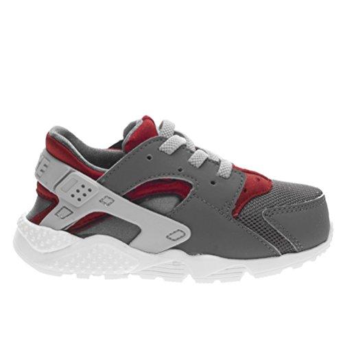 Nike 704950-018, Zapatos de Primeros Pasos Bebé-Niño, Gris (Dark Grey / Wolf Grey / Gym Red / White), 23.5 EU