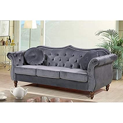 Amazon.com: US Pride Furniture Anna Upholstered Nailhead ...