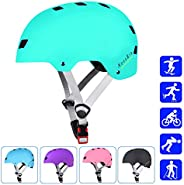 NESSKIN Skateboard Helmet with CPSC and ASTM Certified Kids-Youth-Adults Roller Skating Skateboarding Cycling