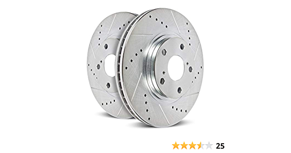 Approved Performance J27252R Premium Performance Drilled and Slotted Disc Brake Rotors Front Pair