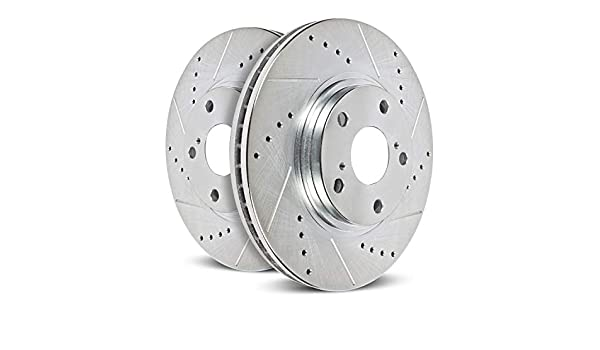 Power Stop JBR525XPR Front Evolution Drilled /& Slotted Rotor Pair