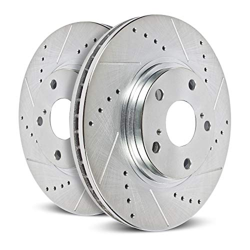 Power Stop AR8553XPR Front Evolution Drilled & Slotted Rotor Pair