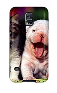 New Arrival Cat And Dog For Galaxy S5 Case Cover wangjiang maoyi