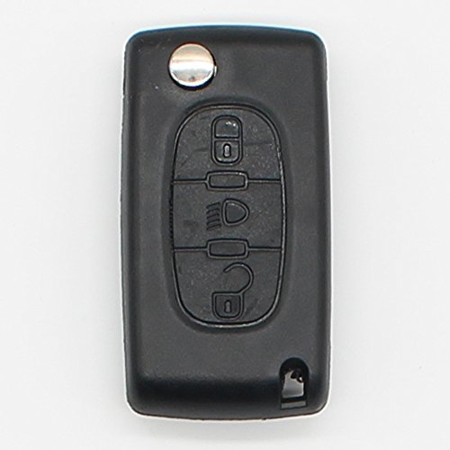 3 Buttons Filp Folding Remote Key Shell Key Fob Cover for Citroen C4 C5 C6 C8 with Badge CE0536