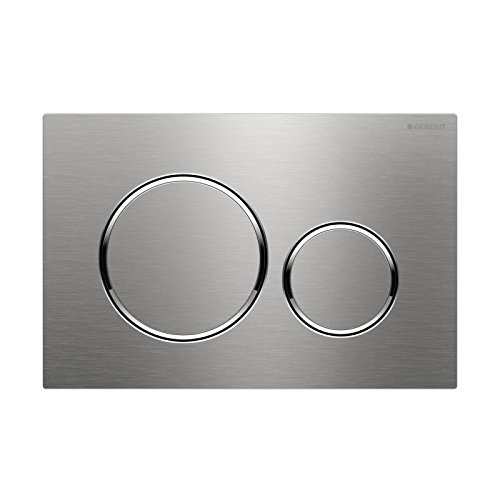 Geberit 115.882 Sigma 20 Dual Flush 1.6 / .8 GPF Actuator Plate, Stainless - Stainless Steel Samba
