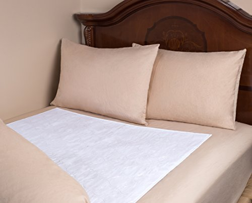 Mattress Pad Sheet Protector – Soft Quilted Cotton with a Waterproof Layer to Protect your Mattress and Keep Sheets and Linen Dry. Superior Alternative to Disposable Mattress Pads. (34 x 52 Inches)