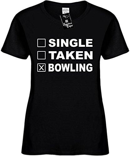 Signature Depot Women's Size M Funny T-Shirt (Single Taken Bowling (Sports) Ladies (Bowling T-shirt Designs)