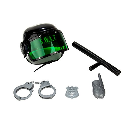 WGS Kids Pretend Role Play Combat SWAT Costume Helmet and Accessories Play Set -