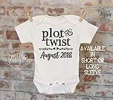 Plot Twist Pregnancy Reveal Onesie®, Reveal to Husband, Pregnancy Announcement, Customized Onesie, Coming Soon Onesie