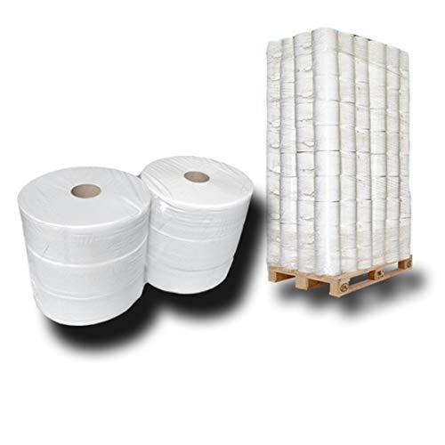 Pallet Jumbo-toiletpapier, jumbo-rollen, wc-rollen, 2-laags ca. 28 cm Ø x 360 m ca. 60% wit