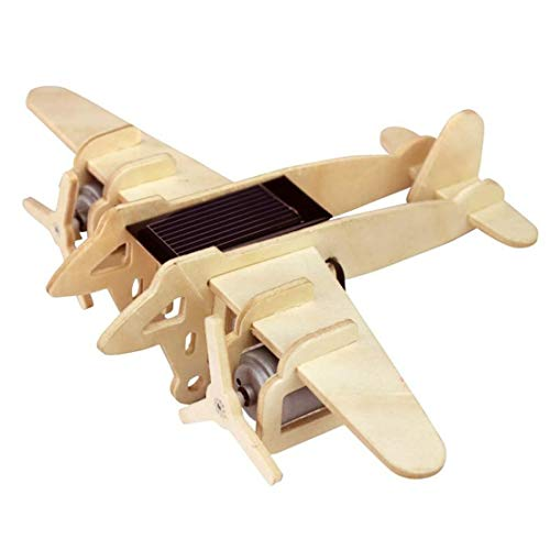 - Yamix Solar Energy Drived 3D Wooden Puzzle Construction Kit Woodcraft DIY Airplanes Assemble Model 3D Puzzles for Kids Adults (Bombers Model )