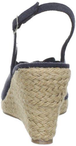 Sandal Wedge Annie Shoes Womens Navy Shoes Annie Linen Dandi Womens wZwYq0